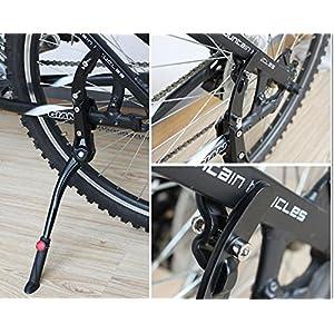 MINGZE Pata de Cabra para Bicicleta, Aleación de aluminio Ajustable Kickstand de bicicleta, Mountain Bike se adapta a 24 - 28 pulgadas Bicicletas