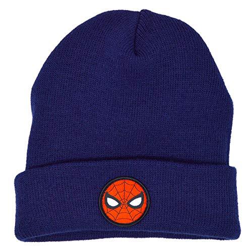 Marvel Amazing Spiderman Wintermütze für Jungen Gr. 4-6 Jahre, navy