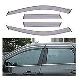 QUXING Derivabrisas para Volvo XC60 2018 2019 ABS Window Visor Vent Shade Rain Sun Wind Guard Deflectors Toldos Cubierta Cubierta Derivabrisas Deflectores