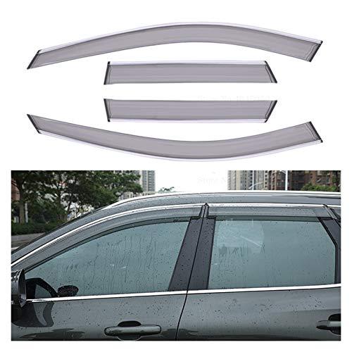LWLD Fensterabweiser Für Volvo XC60 2018 2019 ABS Fenster Visier Entlüftungsschatten Regen Sun Windschutz Deflektoren Markierungen Schutzhütten Fenster Sonne Deflektor