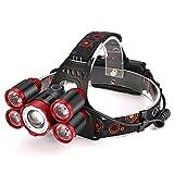 kashyk Lampe Frontale LED Puissante Rechargeable Luminaire,35000 Lumen ,LED pour Running VTT Cycliste Randonnée Caverne Pêche Chasse de Nuit