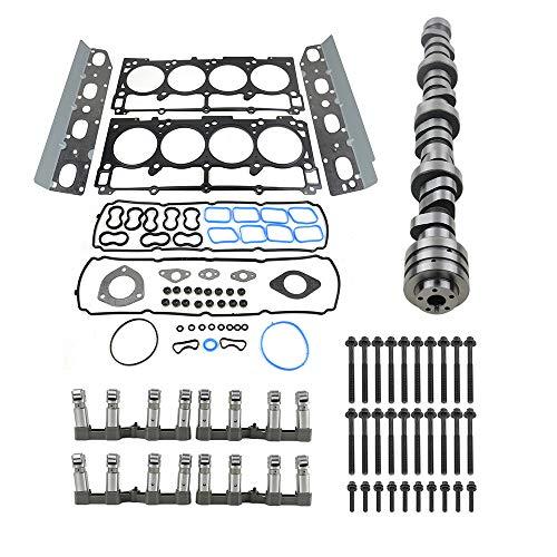 Lifters Camshaft Kit w/Gasket Kit for 09-18 Dodge Durango Ram 1500 J-eep Commander Chry-sler 300 5.7L V8 HEMI Engine, Part# 53021726AD, 53021720AB, 53022372AA NICEKE