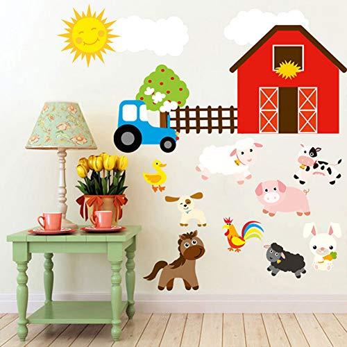 YSHUO Wandtattoos Bauernhof Entworfen Handwerk Kind Baby Schlafzimmer Küche Wohnzimmer