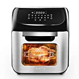 12L Digital Air Fryer Oven, 90% Less-Oil Fryers, 12 in 1 Function Reheat/Preheat/Defrost/French