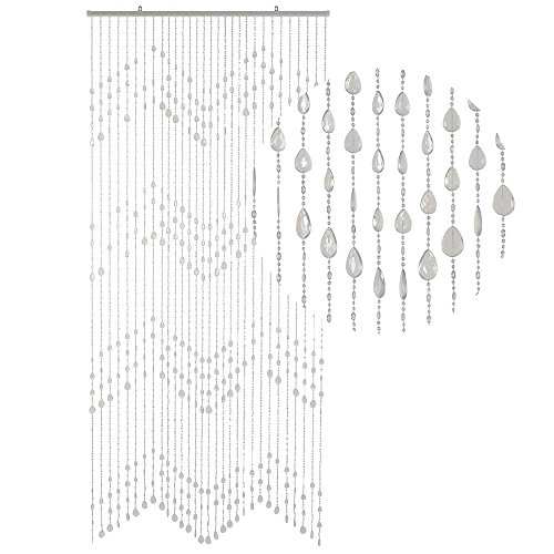 HAB & GUT -DV0273- Türvorhang KLUNKER, KLAR, 90 x 200 cm