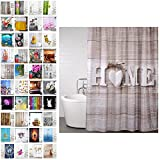 Sanilo Duschvorhang, viele schöne Duschvorhänge zur Auswahl, hochwertige Qualität, inkl. 12 Ringe, wasserdicht, Anti-Schimmel-Effekt (Home, 180 x 200 cm)