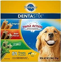 PEDIGREE DENTASTIX Large Dog Dental Care Treats Original, Beef & Fresh Variety Pack, 2.76 lb.Pack (51 Treats)