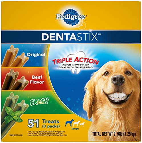Pedigree Dentastix Treats for Large Dogs, 30+ Lbs Multiple Flavors