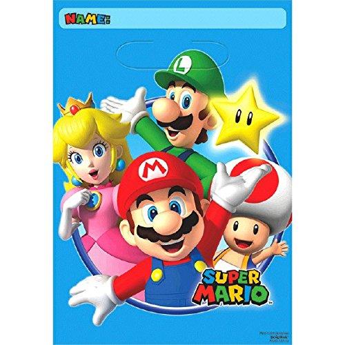 amscan Super Mario Loot Bags (8 Pack)