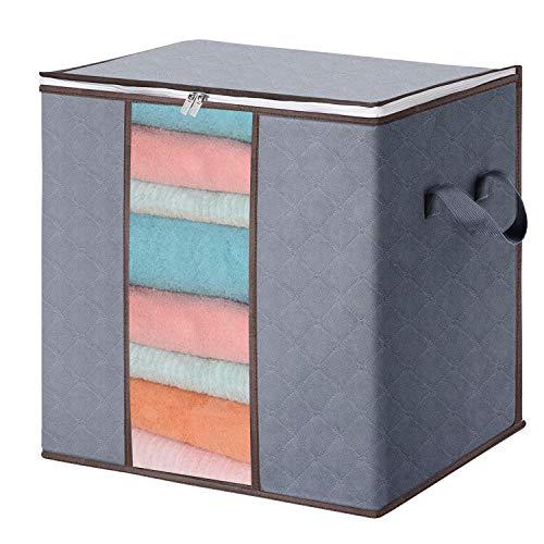 Caja de almacenamiento para debajo de la cama, plástico transparente de PVC, bolsas de tamaño extra grande, para ropa de invierno, ropa de mujer y niños, edredón de tamaño...
