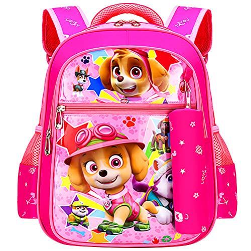 ZSWQ Paw Patrol Kinderrucksack - Paw Patrol Rucksack Kinderrucksack mit Taschen Chase Marshall Rubble für Mädchen Rucksack