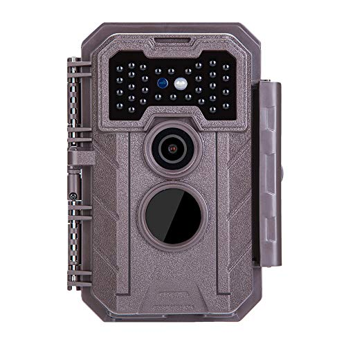 GardePro E2 Trail Camera (2020), 16MP 1080P, Wide 110° View Angle, 75ft Night Vision, 0.5S Motion Activated for Game Wildlife Deer Trail