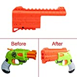 FenglinTech Maliang 3D Printing Appearance Decoration Part for Nerf Zombie Strike Doublestrike Blaster - (Orange)