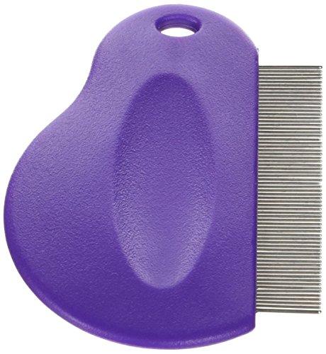 Master Grooming Tools Contoured Grip Flea Combs — Ergonomic Combs for Removing Fleas, Purple
