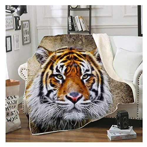 Stillshine. 3D Tier Serie Tiger Pferd Drucken Kuscheldecke Flanell Decke Flauschig Weich & Warm Microfaser Leichte Plüsch Wohndecke Fleece Tagesdecke Decke für Sofa & Bett (Farbe 4, 150 × 200 cm)