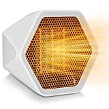 Sorlakar Eletric Space Heater,1000W Small Heater Ceramic Space Heater with Overheat Protection,Heat Up in Minutes for Home Office Floor or Desktop (White)