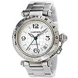 カルティエ Cartier パシャC メリディアン GMT W31078M7 ボーイズ 腕時計 デイト シルバー 文字盤 オートマ 自動巻き 【中古】 90086163