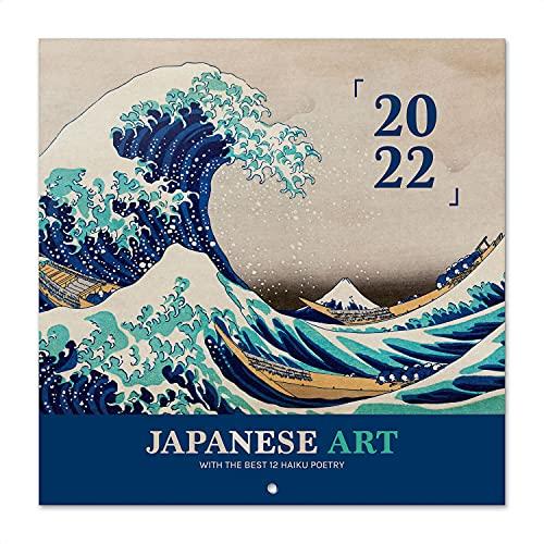Grupo Erik Calendario Japanese Art 2022 - Calendario 2022 pared - Calendario 16 meses - Calendario 2021 2022, Calendario de pared 2021 2022 - Calendario Japón - Calendario mensual, Japanese Blanco