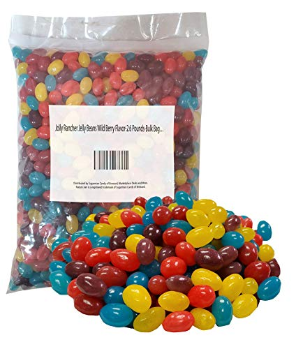 Jolly Rancher Jelly Beans Wild Berry Flavor-2.6 Pounds-Bulk Bag