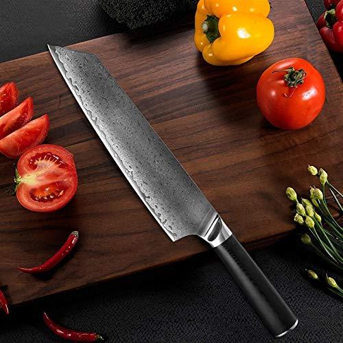 Damasco de acero Cuchillo de cocina SHARP CHEF CHEF CUCHILLO SIN CLEADOR CLEAVER VETRÁTICO UTILIDAD KIRITSUKE KNIVE HOGAR REGALO HERRAMIENTAS DE COCCIÓN Cuchillo para utensilios