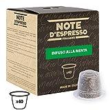 Note D'Espresso - Cápsulas de menta poleo exclusivamente compatibles con cafeteras Nespresso*, 2g (caja de 40 unidades)
