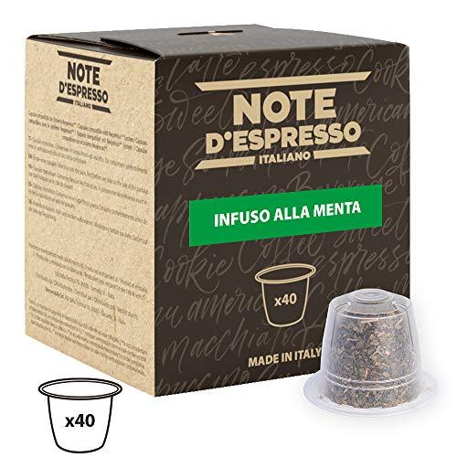 Note DEspresso - Capsulas de menta poleo exclusivamente compatibles con cafeteras Nespresso*, 2g (caja de 40 unidades)
