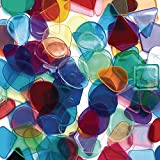 Colorations Plastic Translucent Multi-Color Geometric Shapes, 1 Pound