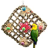 Material - The seaweed foraging wall bird toy is made of the highest quality seaweed, wooden rattan and colorful wooden bead toy parts. Toy Benefits - The Seagrass Foraging Wall Bird Toy is designed not only to entertain, but also to satisfy the natu...