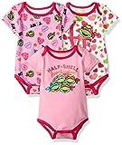 Nickelodeon Baby Girls' Ninja Turtles 3 Pack Bodysuit, Pink, 12m