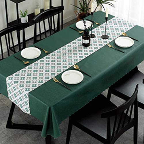 Mantel Nórdico De PVC Impermeable Y A Prueba De Aceite, Tapete Rectangular Desechable Anti-Quemaduras Adecuado para Manteles Ligeros De Lujo En Cafés De Hotel