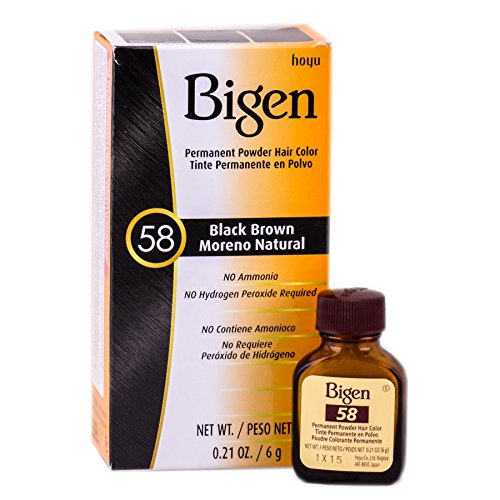 Bigen Permanent Powder Hair Color 58 Black Pack 1 ea Cheap sale Brown Special price for a limited time of