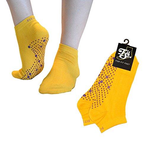 Calcetines de yoga amarillos