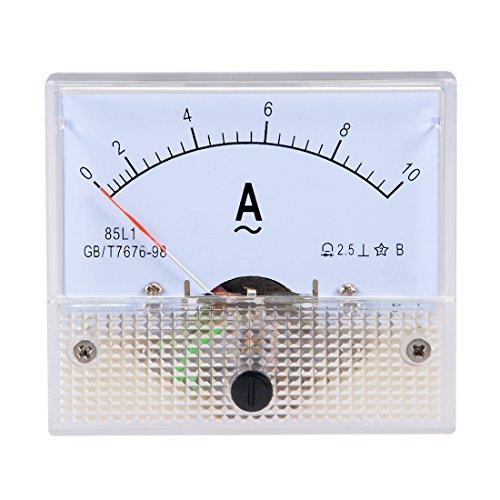 sourcing map AC 0-10A Analog Messgerät Amperemeter Anzeige Ampere Strom Meter 85L1 DE de
