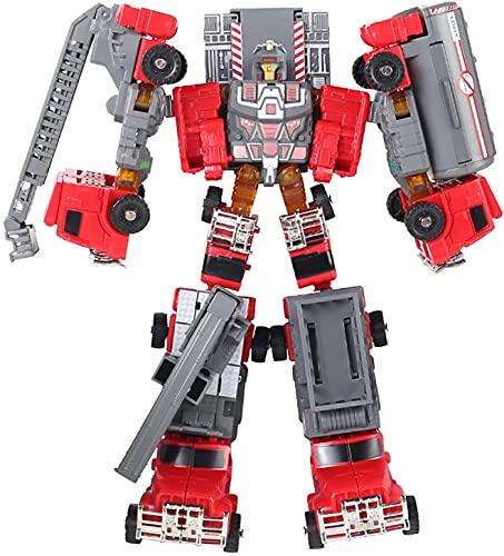 RSVPhandcrafted Transformer Toys 5 en 1 Combiner Fire Water Storage Truck Figure Figure Modelo de camión Regalo para niños