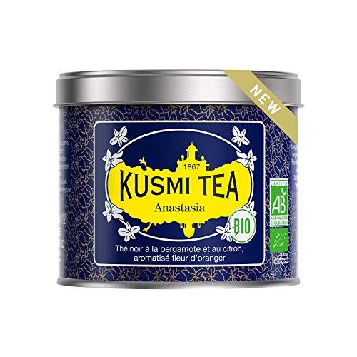 Kusmi Tea - Anastasia BIO - Schwarzer Tee Aromatisiert mit Bergamotte, Zitrone und Orangenblüten - 100 g Metalldose (etwa 40 Tassen)