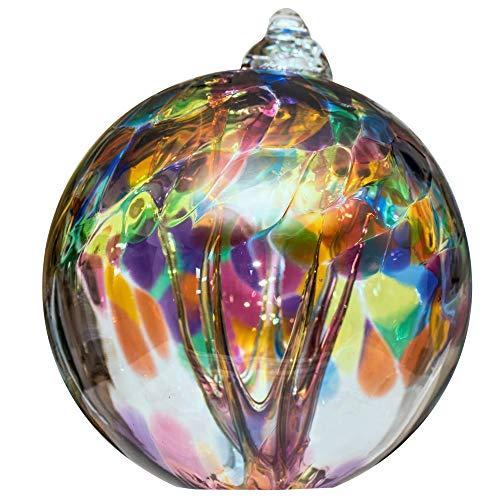Baum des Lebens Glaskugel groß mehrfarbig
