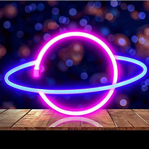 Neonlicht LED Planet,Neon Schild Wand Deko,Neonlicht Wand Mood Beleuchtung,LED-Schilder Wand Dekoration für Home Bar Wandkunst Dekoration Party