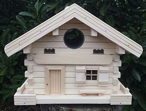 Luxus-Briefkasten Vogelhaus mit rotem Dach incl. Ständer I Handarbeit I deutsche Schreinerarbeit I Made in Germany