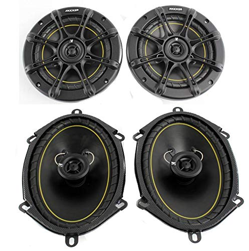 2) Kicker DS60 6.5' 200 Watt+ 2) DS68 6x8' 140W 2-Way Car Coaxial Audio Speakers