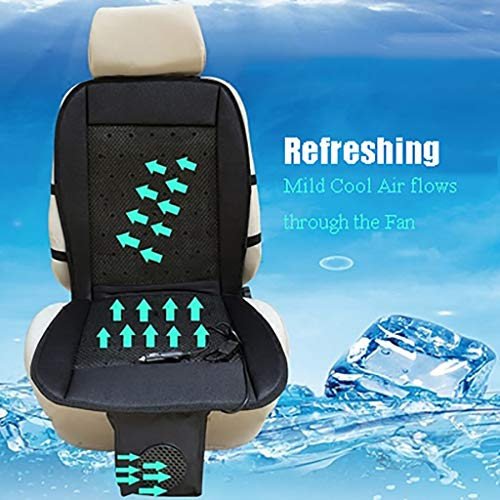 Car Seat Cooler Car Seat Cover Best Choice as Summer Helper, Cooling Car Seat Cushion Adjustable Temperature Comfortable Cooling Car Seat Cushion Pad Cooling Chair Pad ( Color : A , Size : 12V Car )