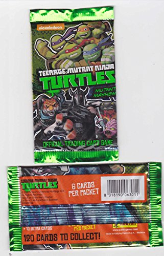 1 Booster Teenage Mutant Ninja Turtles Mutant Mayhem (All-New Trading Card Game) Sammelkarten, 6 Karten pro Pack