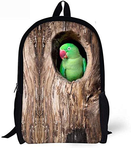 LCNING Rana zaino verde Adolescente Bambini maschi Ragazze zaino da viaggio Carino (Colore : Parrot-1)