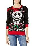 Disney Women's Ugly Christmas Sweater, Jack Skellington/Black, Small by Disney