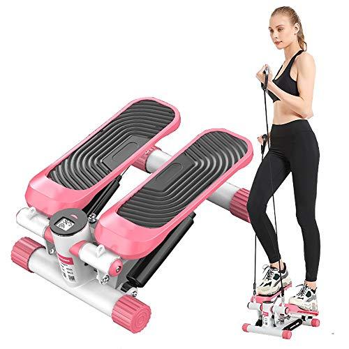 DODOBD Mini Stepper Fitness Up-Down Stepper con Banda tensora Casa Mudo Stepper Cardio EquipoFitness para El Hogar Máquina De Escalada Puede Soportar 120KG No Requiere Instalación