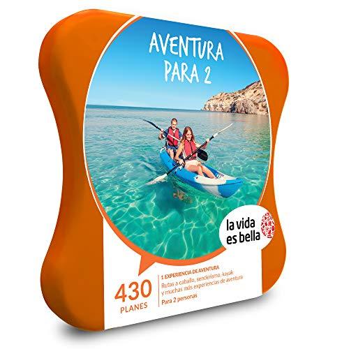 LA VIDA ES BELLA - Caja Regalo hombre mujer pareja idea de regalo - Aventura para 2 - 430 planes de aventura como senderismo, kayak y rutas a caballo