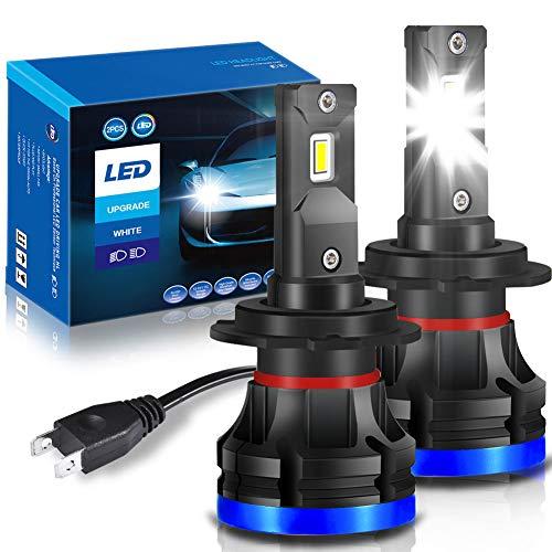 VANFLY Lampadine H7 LED, Nuovo H7 LED 72W 12000LM Fari Abbaglianti o Fendinebbia per Auto, 12V-24V Kit Lampada Sostituzione per Alogena Lampade e Xenon Luci - 2 Anni Di Garanzia 6000K Bianco