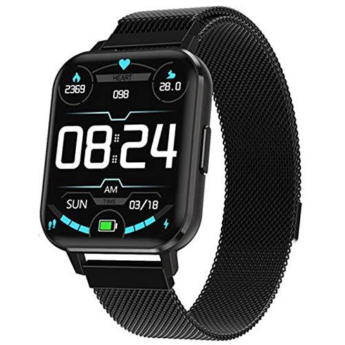 INDYGO DTX reloj inteligente hombres mujeres IP68 impermeable ECG reloj inteligente 1.7 pulgadas pantalla grande modo multi-deportes presión arterial oxígeno reloj