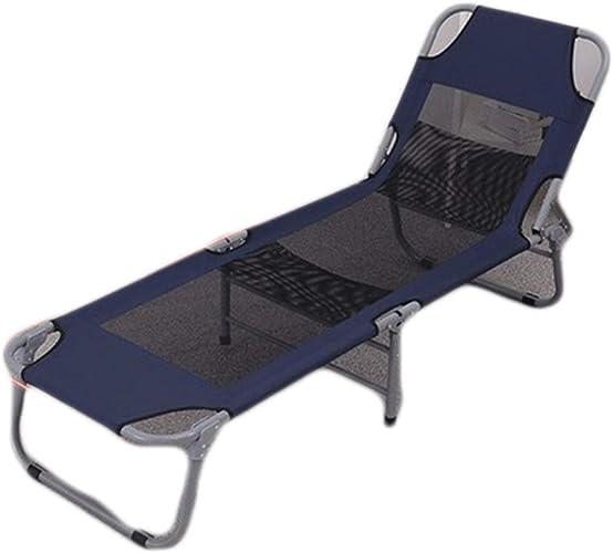 Lit pliant Lit De Camp,Chaise Longue De Jardin Simple Lit De Camp Portable Adapté pour L'été (Taille   C)