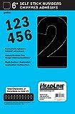 Headline Sign 32621 Stick-On Vinyl Numbers, Black, 6-Inch
