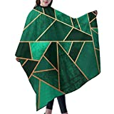 KIMIOE Capa Peluqueria Adulto Capa de Peluquería Impermeable Barber cloak,Emerald and copper lines Salon Hair Cutting Gown Barber Cape Cloth